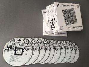 Kronika Dźwiękowa 61 Międzynarodowego Festiwalu Muzyki Współczesnej WARSZAWSKA JESIEŃ - na 10 płytach CD